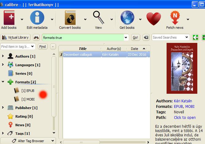 7. ábra - A konvertálás befejeztével már két formátummal rendelkezünk