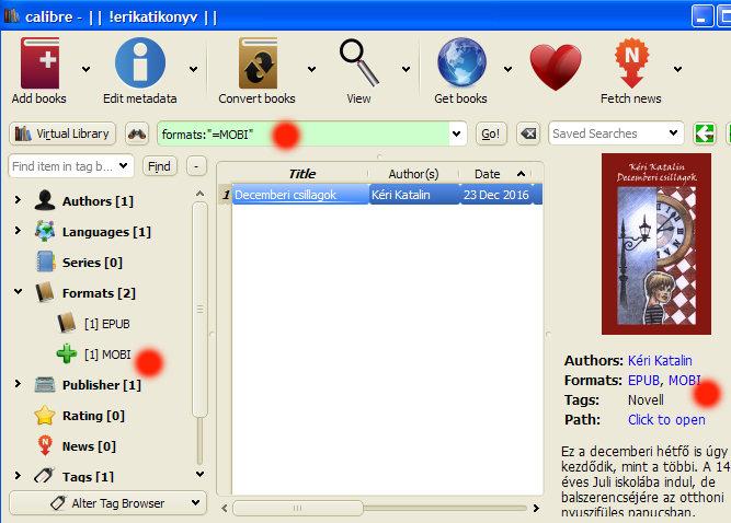 8. ábra - A konvertált .mobi kiterjesztésű fájlt már küldhetjük is a Kindle eszközünkre