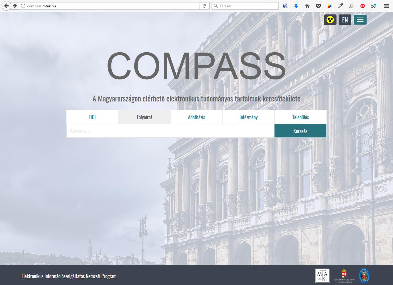 A Compass keresőfelülete